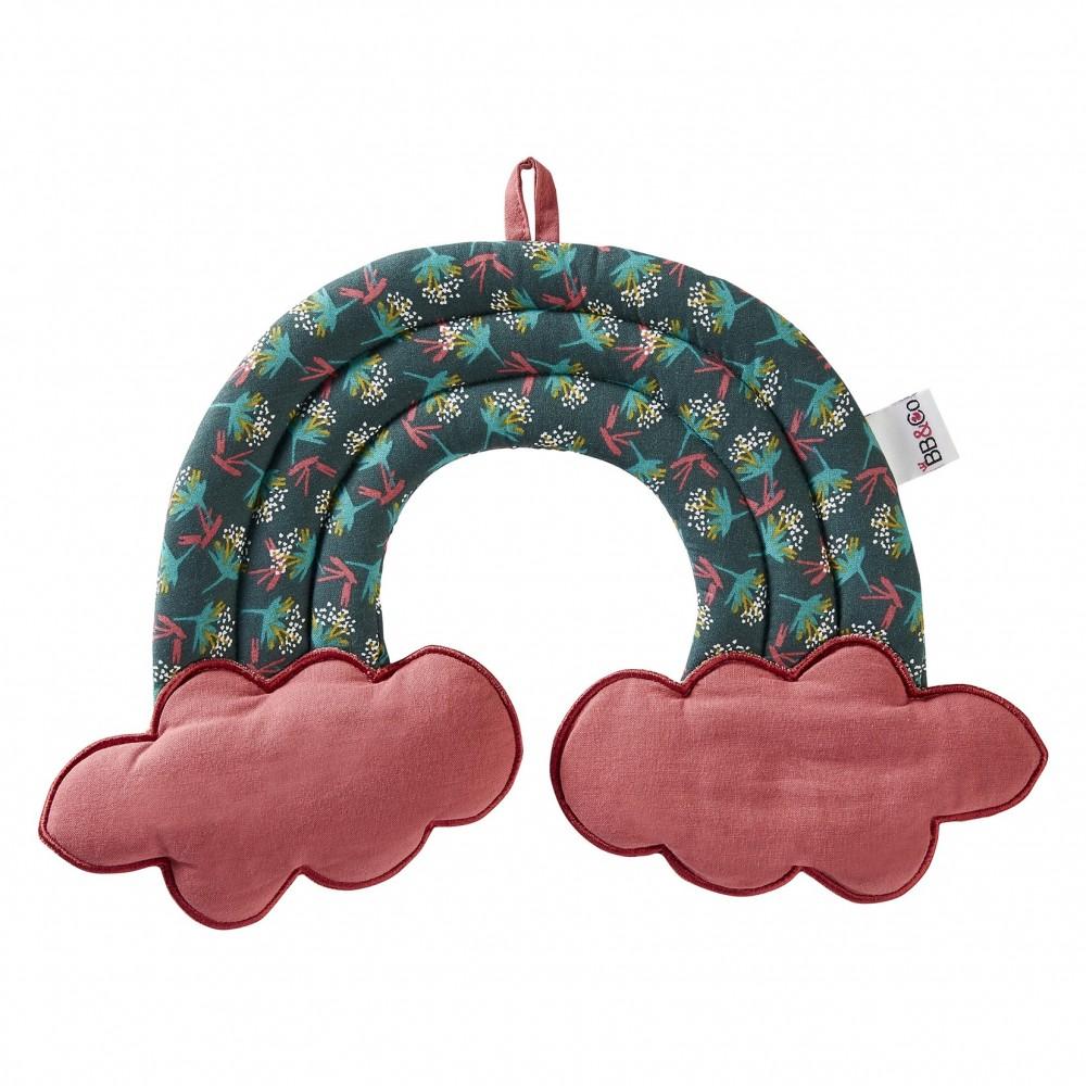 Décoration murale arc-en-ciel - Vintage Flowers - framboise/ imprimé fleurs - Guirlandes et décoration murale par BB&Co