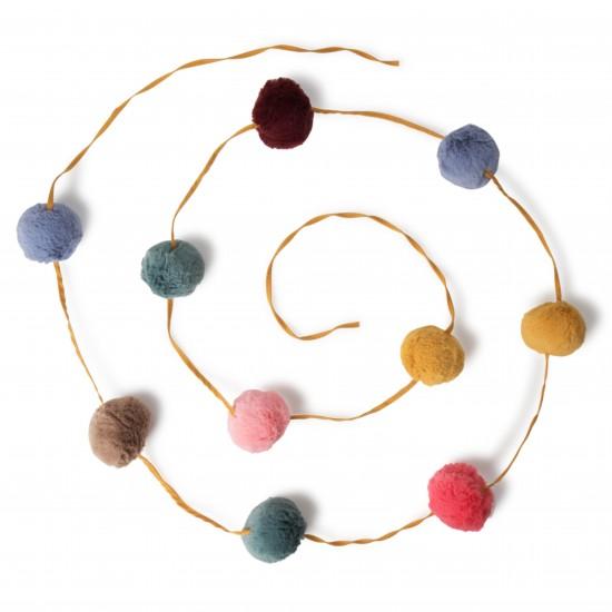 Guirlande pompons multicolore Picca Loulou - Accueil par Picca Loulou