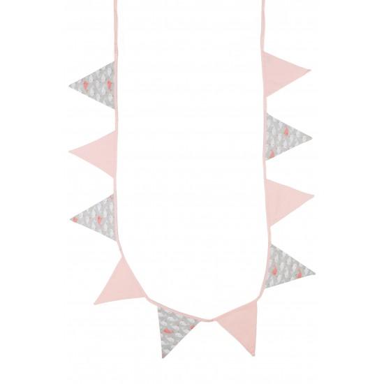 Guirlande fanions Un Océan de Tendresse cotonrose blush/beige/blanc - Guirlandes et décoration murale par BB&Co