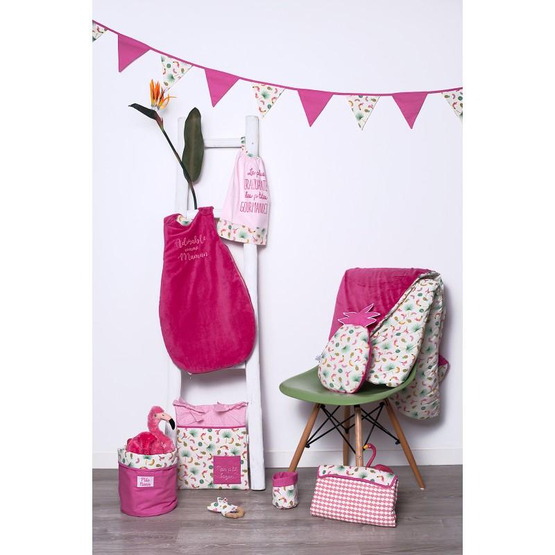Guirlande fanions Tropical Princess coton rose/exotique - Guirlandes et décoration murale par BB&Co