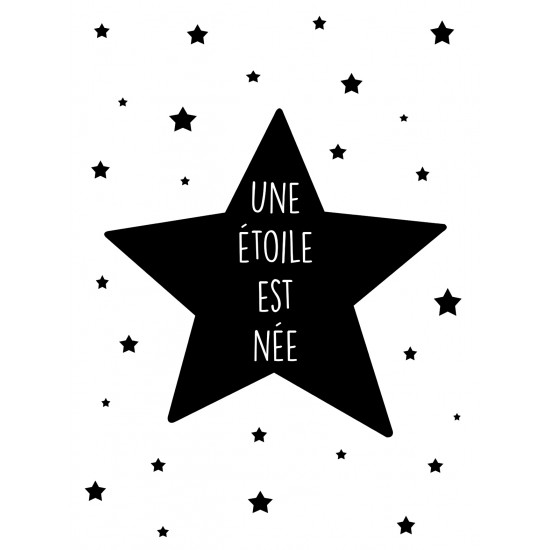 """Affiche """"Une étoile est née"""" - Guirlandes et décoration murale par BB&Co"""