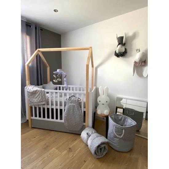 Tapis de jeu réversible/fond de parc - Une Etoile est née - gris/blanc - Tapis de jeu et cale-bébés par BB&Co