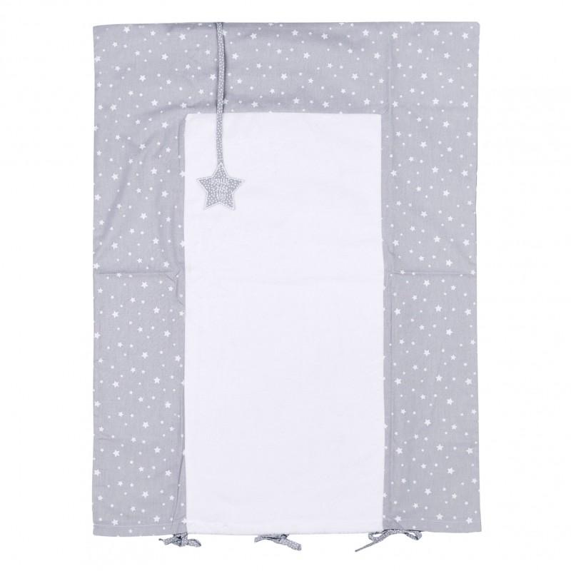 Housse de matelas à langer étoiles gris/blanc - Housses de matelas à langer par BB&Co