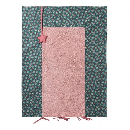 Housse de matelas à langer 60x80cm rose Vintage Flowers - Housses de matelas à langer par BB&Co