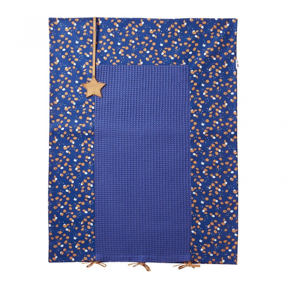 Housse de matelas à langer 60x80cm indigo/lagon/camel Stardust - Housses de matelas à langer par BB&Co