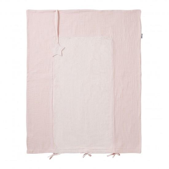 Housse de matelas à langer rose blush Mix & Match - Housses de matelas à langer par BB&Co