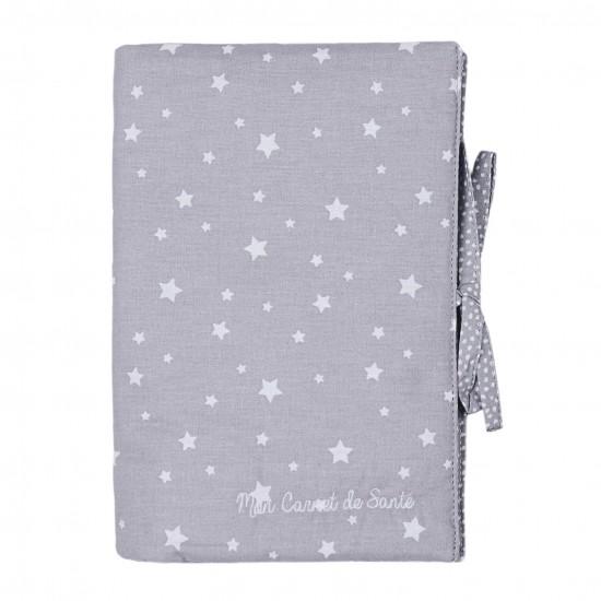 Protège carnet de santé Une étoile est née gris/blanc - Protège-carnet de santé par BB&Co