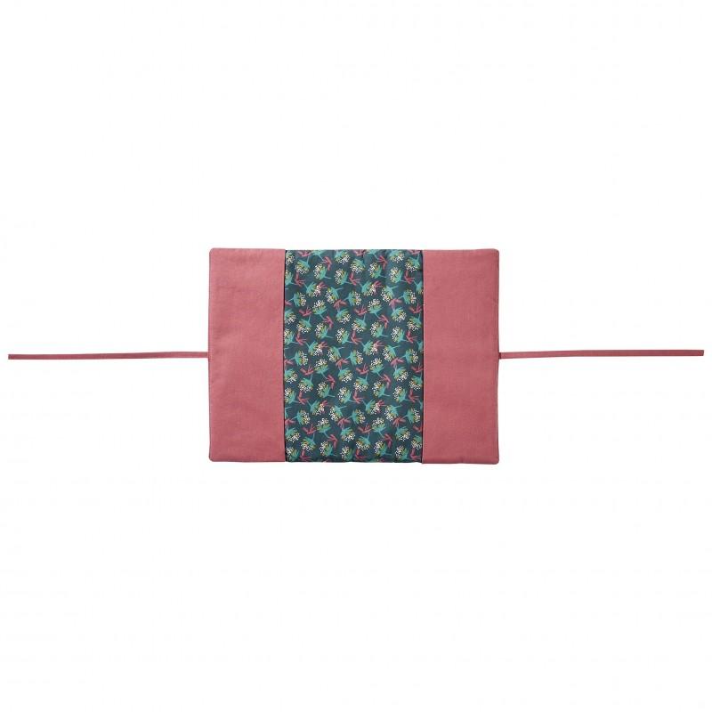 Protège-carnet de santé framboise/ imprimé fleurs Vintage Flowers - Protège-carnet de santé par BB&Co
