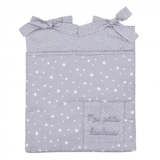 Range-Pyjama & Doudous à accrocher étoiles gris/blanc - Range-Pyjamas par BB&Co