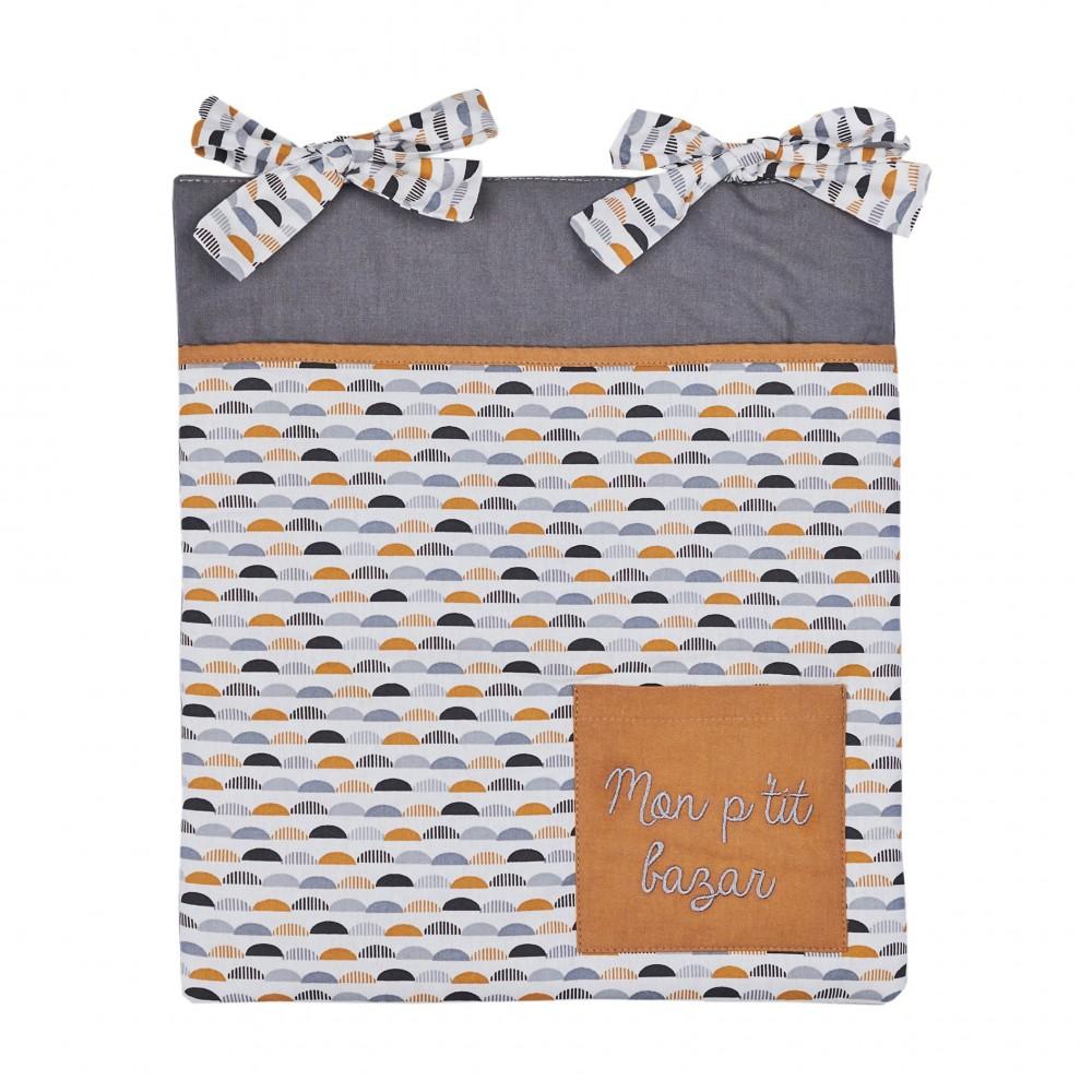 Range-Pyjama & Doudous à accrocher gris/blanc/camel - Range-Pyjamas par BB&Co