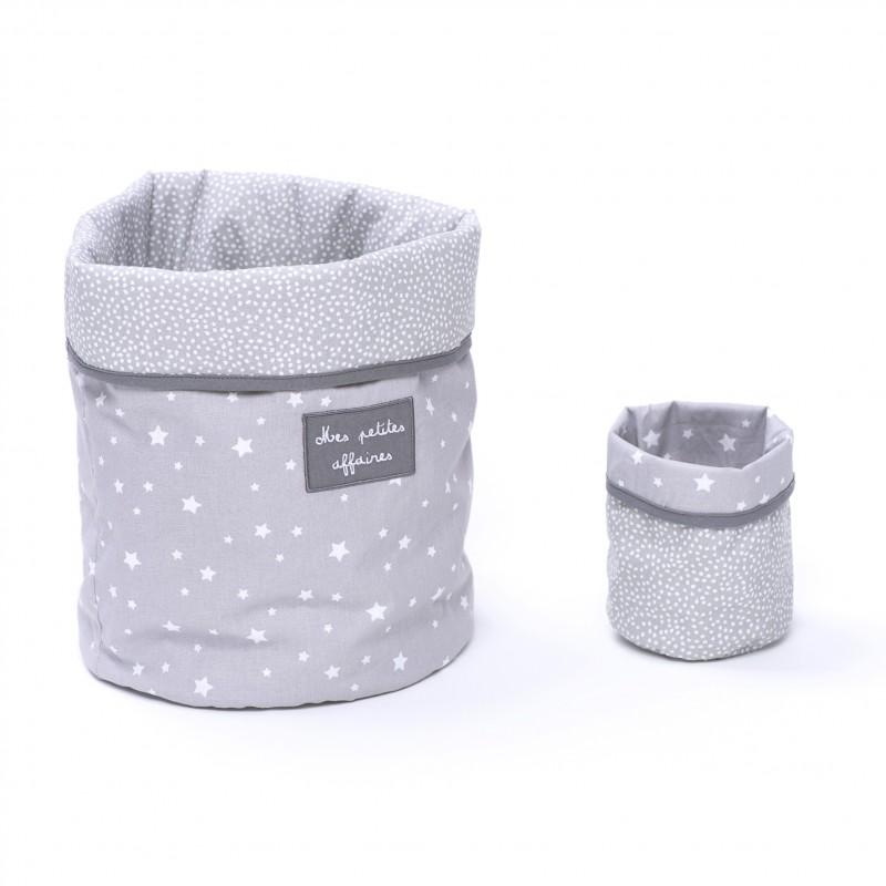 Set Corbeilles de rangement Une étoile est née gris/blanc - Corbeilles de rangement par BB&Co