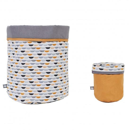 Set Corbeilles de rangement Honeymoon gris/blanc/camel - Corbeilles de rangement par BB&Co