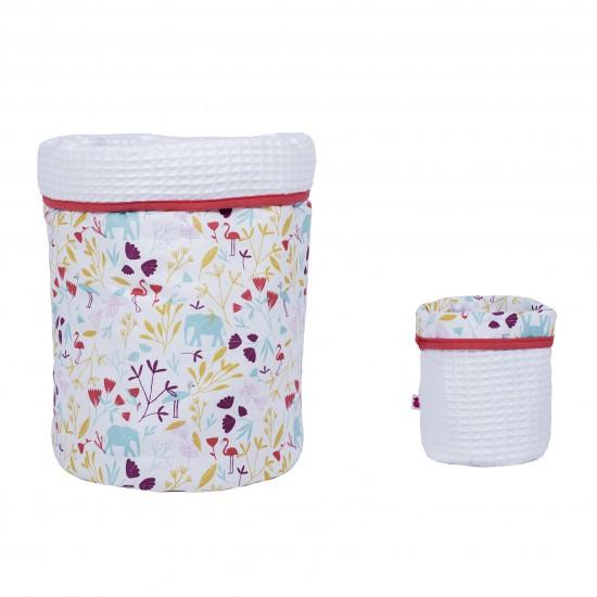 Set Corbeilles de rangement Exotic Garden imprimé exotic/blanc - Corbeilles de rangement par BB&Co