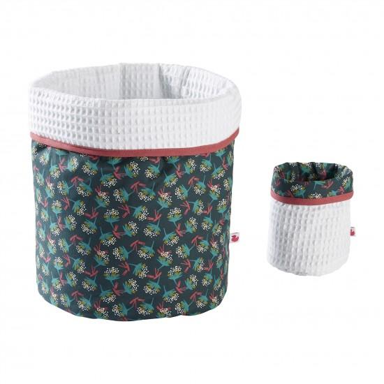 Set Corbeilles de rangement Vintage Flowers - Corbeilles de rangement par BB&Co