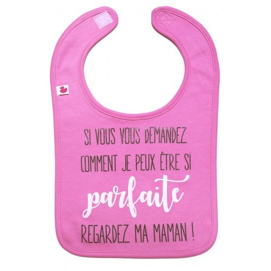 """Bavoir """"si parfaite"""" rose bonbon - Bavoirs bébé par BB&Co"""