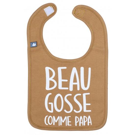 """Bavoir """"Beau gosse comme papa"""" camel - Bavoirs bébé par BB&Co"""