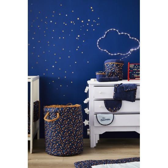 Lot de 2 bavoirs naissance en gaze de coton Stardust indigo/lagon/camel - Bavoirs bébé par BB&Co