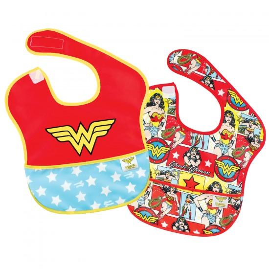 """Pack de 2 bavoirs imperméables """"Wonder Woman"""" - Bavoirs bébé par DC Comics"""