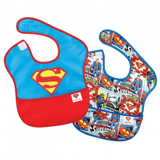 """Pack de 2 bavoirs imperméables """"Superman"""" - Bavoirs bébé par DC Comics"""