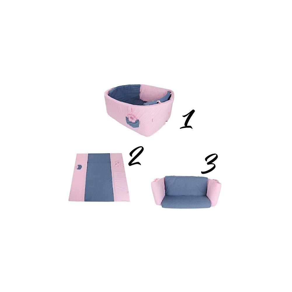 Tapis d'éveil évolutif 3 in 1 - rose - Accueil par Minene