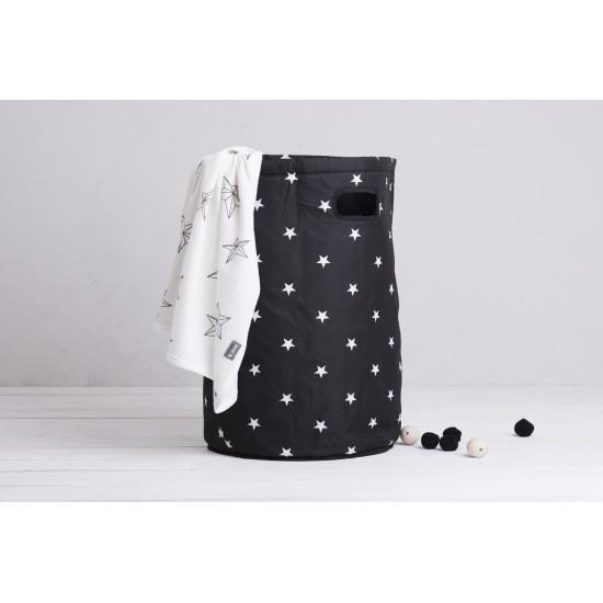 Maxi Panier à Linge imperméable noir étoiles - Maxi Paniers de rangement par Minene