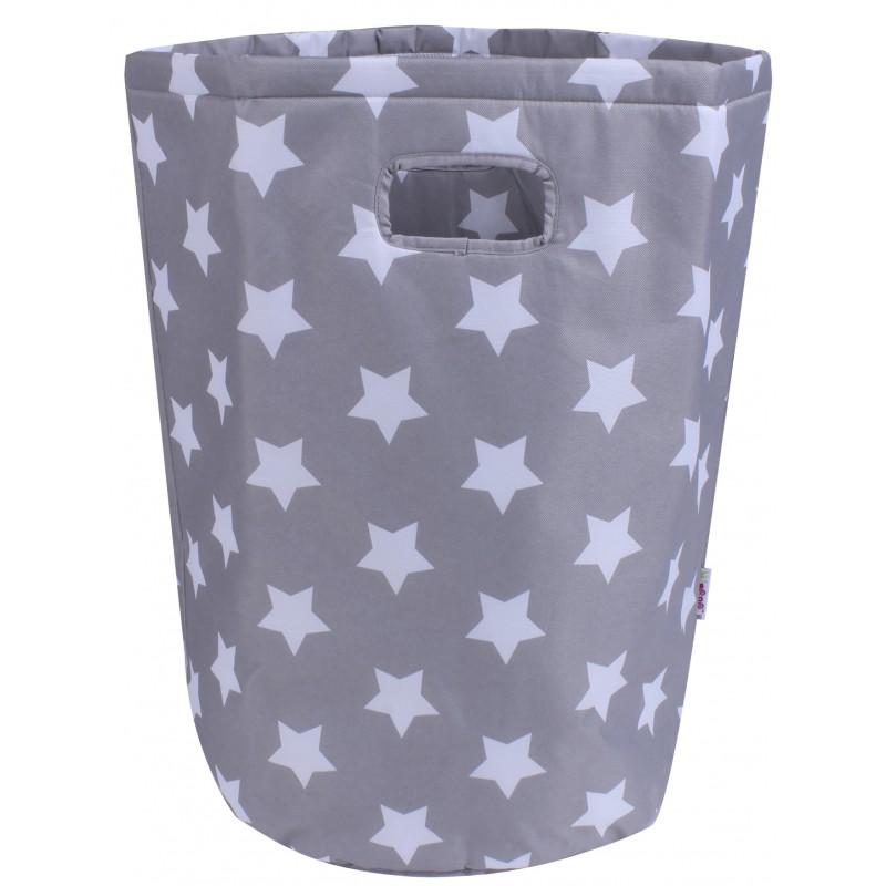Maxi Panier à Linge imperméable gris étoiles - Maxi Paniers de rangement par Minene