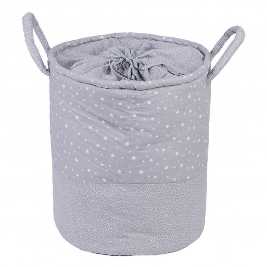 Maxi panier de rangement à anses Une étoile est née gris/blanc - Maxi Paniers de rangement par BB&Co