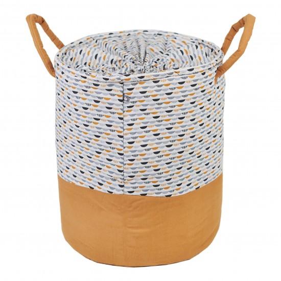 Maxi panier de rangement à anses Honeymoon gris/blanc/camel - Maxi Paniers de rangement par BB&Co