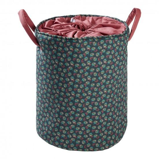 Maxi panier de rangement à anses framboise/ imprimé fleurs Vintage Flowers - Maxi Paniers de rangement par BB&Co