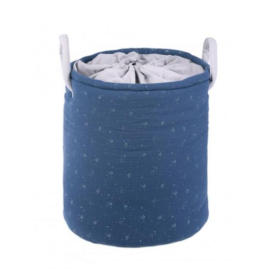 Maxi panier de rangement à anses Nuit Etoiléegris/ indigo/ argent - Maxi Paniers de rangement par BB&Co