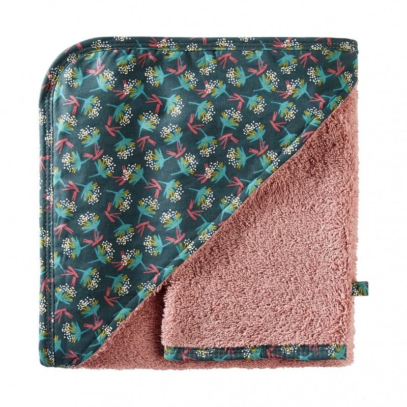 Cape de bain + gant Vintage Flowers rose / imprimé fleurs - Peignoirs & Capes de Bain par BB&Co