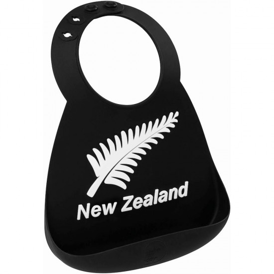 Bavoir en silicone : noir/blanc New Zealand - Bavoirs bébé par Make My Day