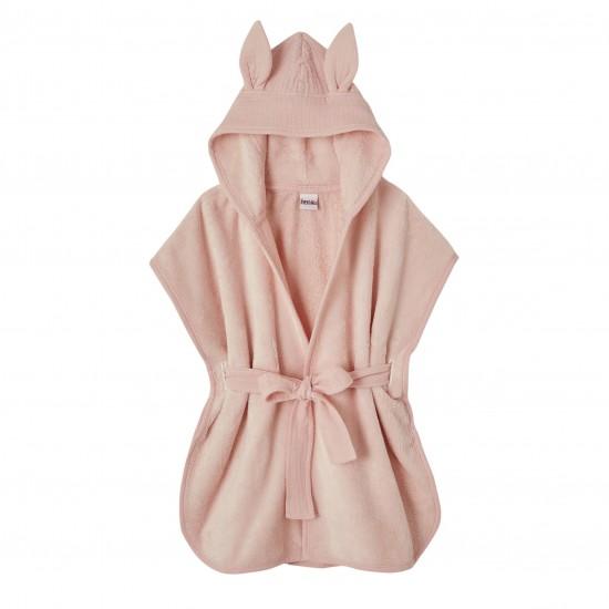 Peignoir bébé bambou et gaze de coton rose blush - Accueil par BB&Co