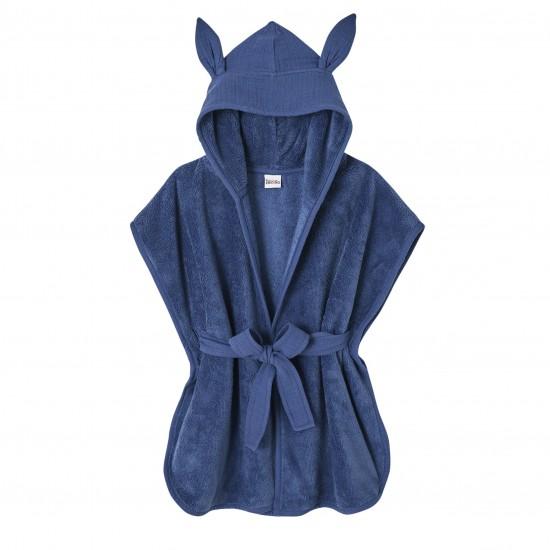 Peignoir bébé bambou et gaze de coton indigo - Accueil par BB&Co