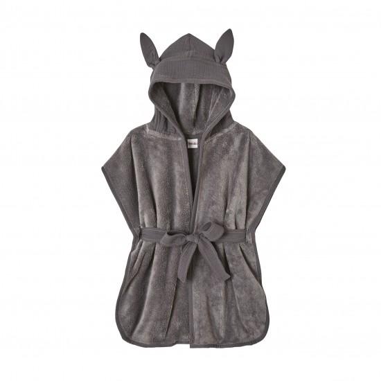Peignoir bébé bambou et gaze de coton gris - Accueil par BB&Co