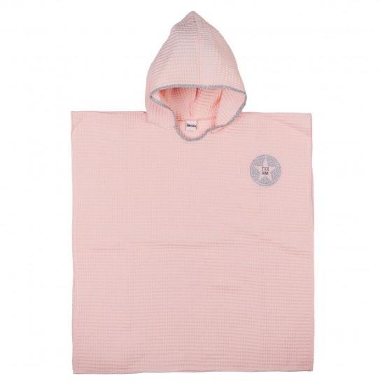 Poncho de bain en nid d'abeille rose blush - Peignoirs & Capes de Bain par BB&Co
