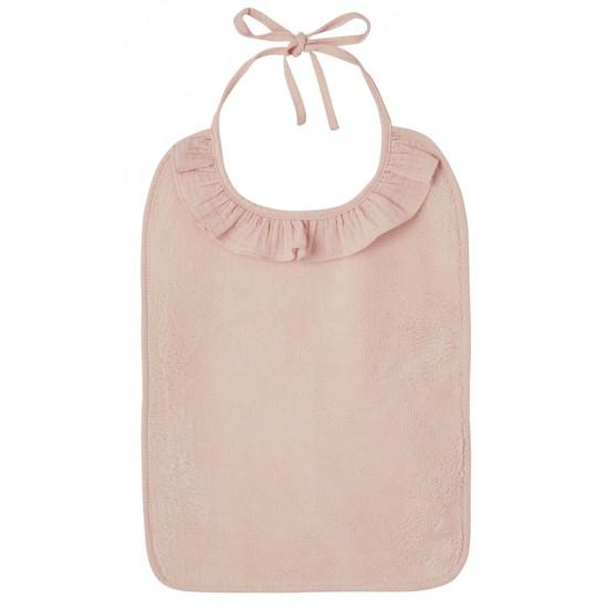Grand bavoir bambou et gaze de coton rose blush - Accueil par BB&Co