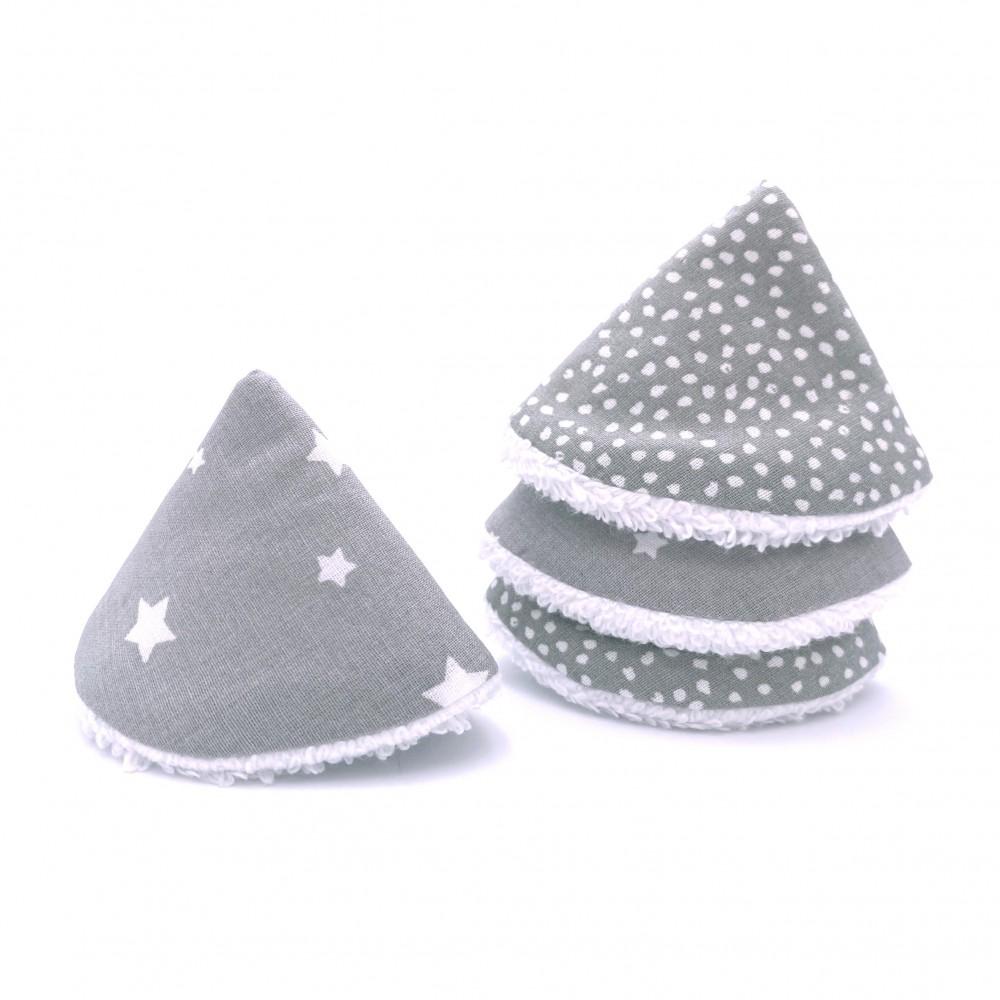 Cônes pare-pipi gris/blanc - Lot de 4 - Bain & Soin par BB&Co