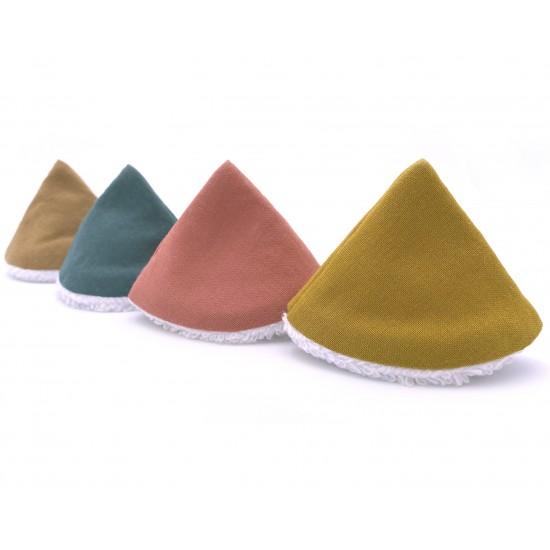 Cônes pare-pipi coloris assortis - Lot de 4 - Bain & Soin par BB&Co