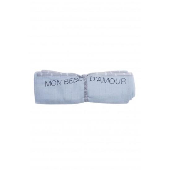 Lange multi-fonctions en gaze de coton aloe / gris - Langes par BB&Co