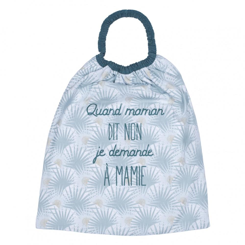 """Serviette élastiquée """"Quand maman dit non"""" imprimé palmiers/vert - Serviettes élastiquées par BB&Co"""