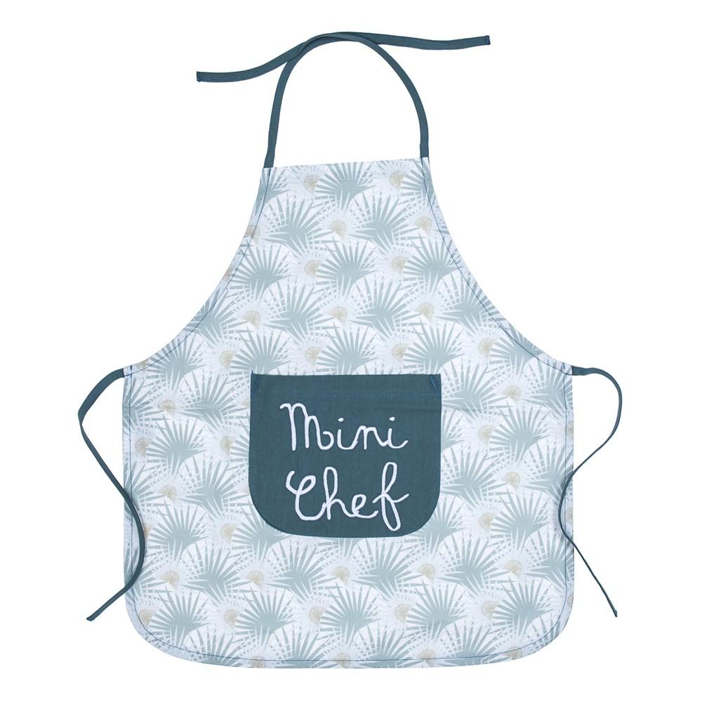 """Tablier de cuisine en coton enduit """"Mini Chef"""" palmiers/vert - Tabliers de cuisine par BB&Co"""