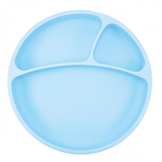 Assiette antidérapante en silicone Minikoioi - Bleu - Vaisselle pour bébé par Minikoioi