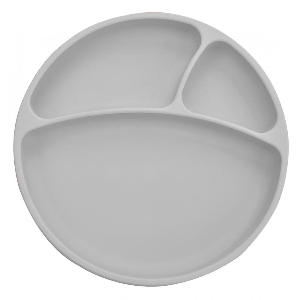 Assiette antidérapante en silicone Minikoioi - Gris - Vaisselle pour bébé par Minikoioi