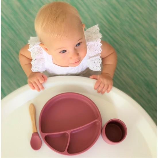 Assiette antidérapante en silicone Minikoioi - Terracotta - Vaisselle pour bébé par Minikoioi