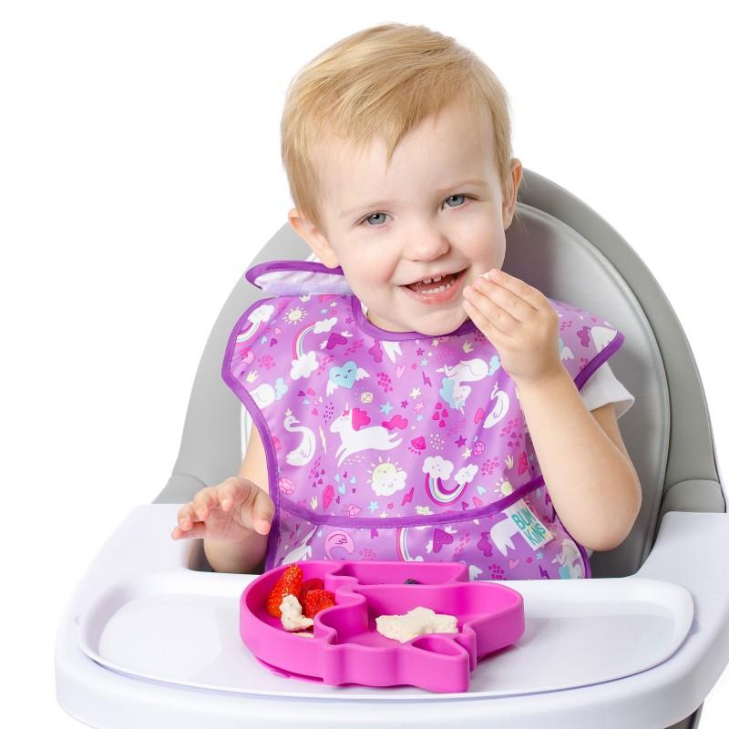 Assiette antidérapante multi-compartiments en silicone - Licorne - Vaisselle pour bébé par Bumkins