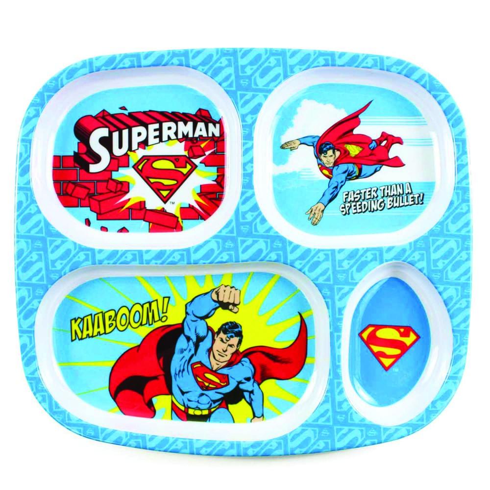 """Assiette à compartiments """"Superman"""" - Vaisselle pour bébé par DC Comics"""
