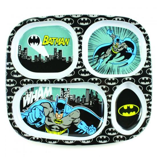 """Assiette à compartiments """"Batman"""" - Vaisselle pour bébé par DC Comics"""