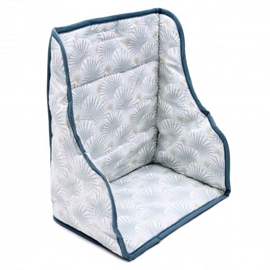 Coussin de chaise haute en coton enduit imprimé palmiers - Chaises hautes et Rehausseurs par BB&Co