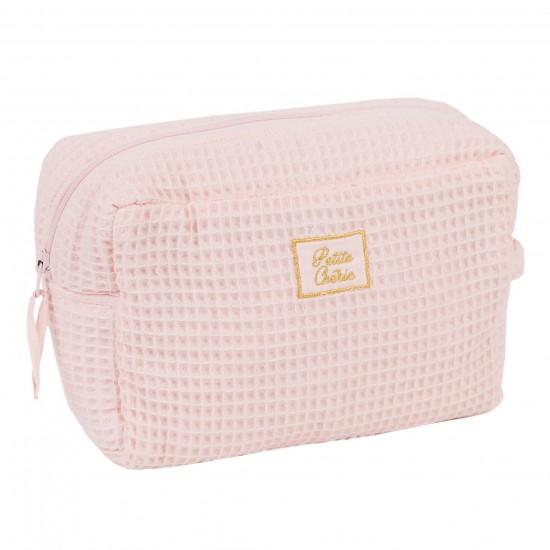 Trousse de toilette en nid d'abeille rose blush - Trousses de toilette par BB&Co